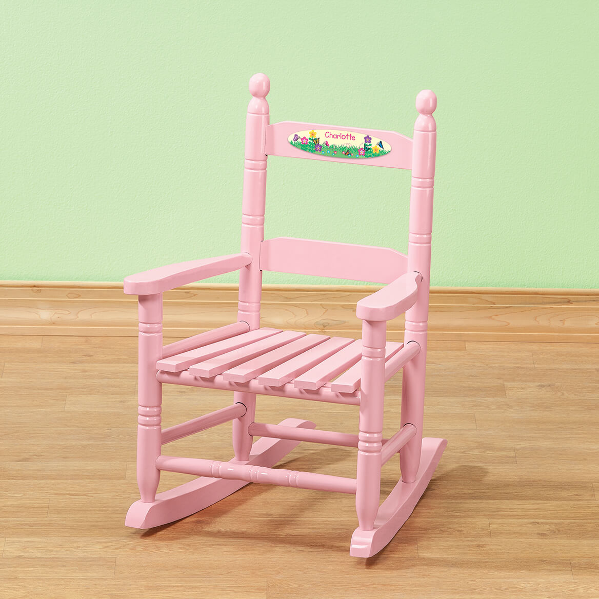 Personalized Flowers & Butterflies Children's Rocking Chair-371720