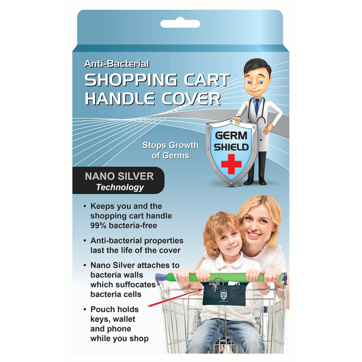 Anti-Bacterial Shopping Cart Handle Cover-371752