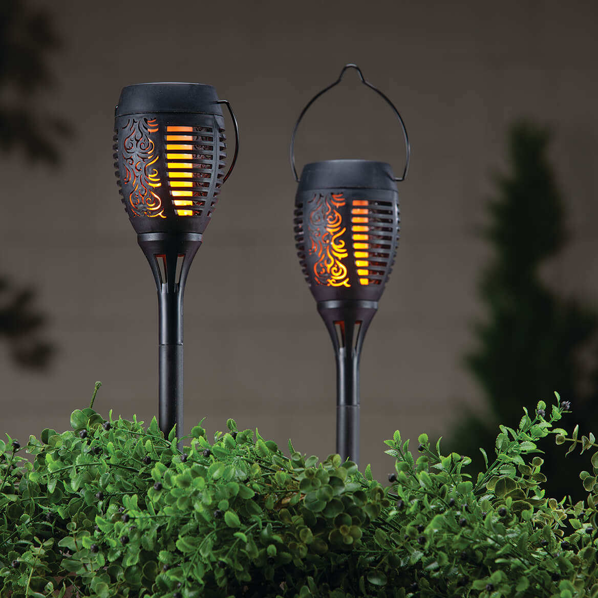 Solar Flame Stakes, Set of 2-371797