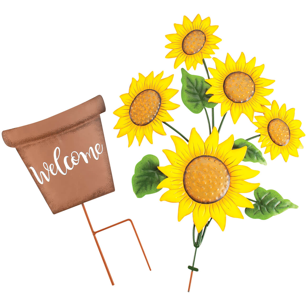Metal Sunflowers Welcome Stake by Fox River™ Creations-371801