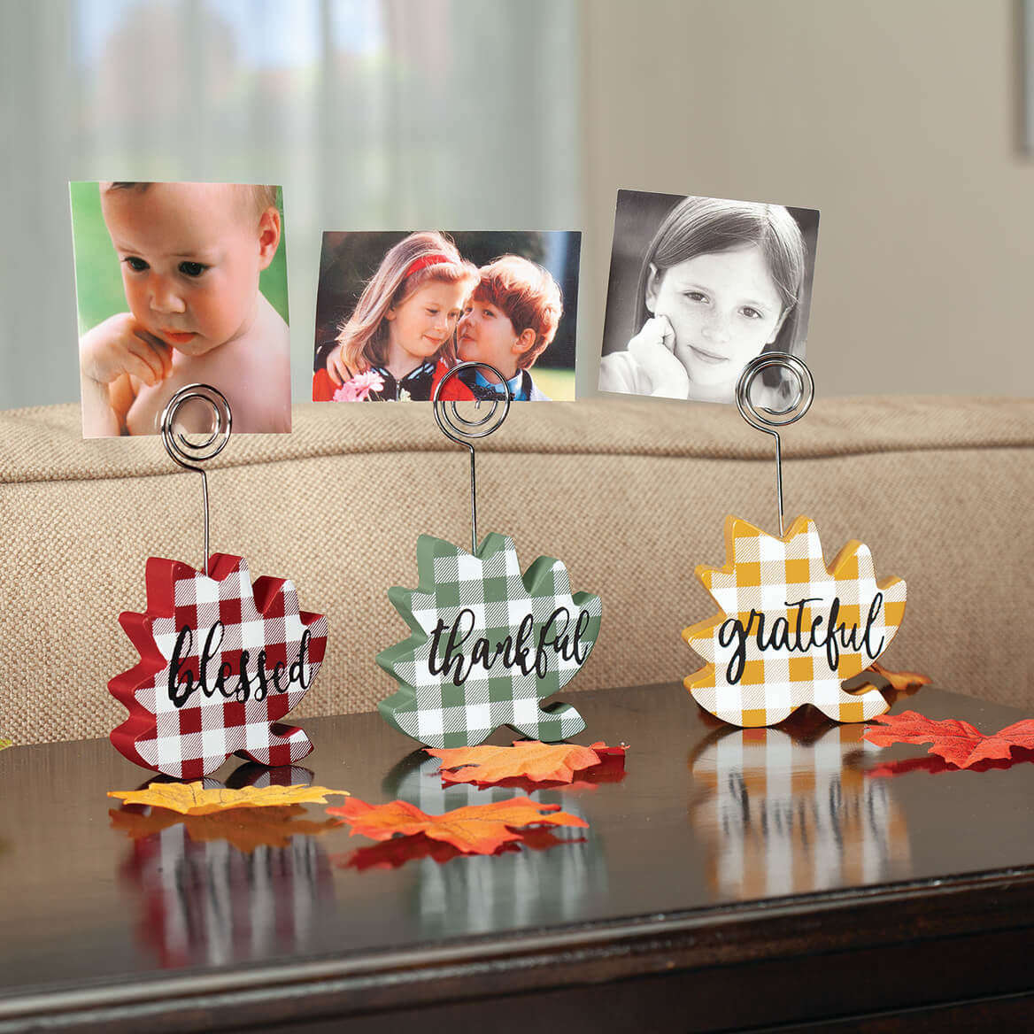 Fall Leaf Picture Clips by Holiday Peak™, Set of 3-371802