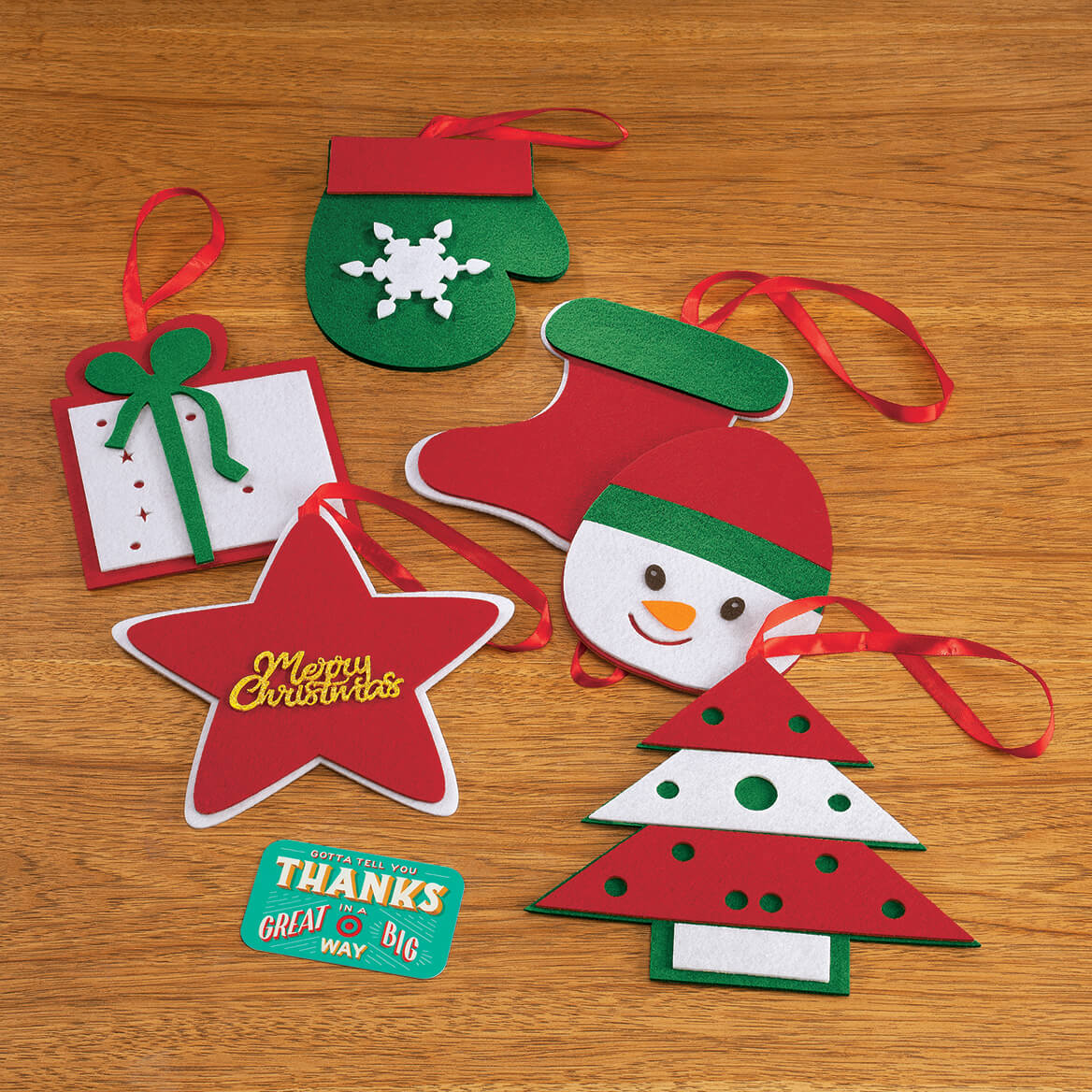 Set of 6 Felt Package Toppers-371856