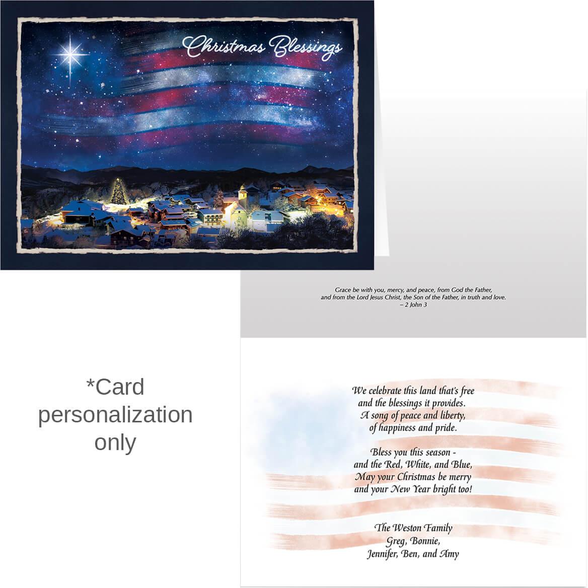 Blessings Across America Christmas Card Set of 20-371902