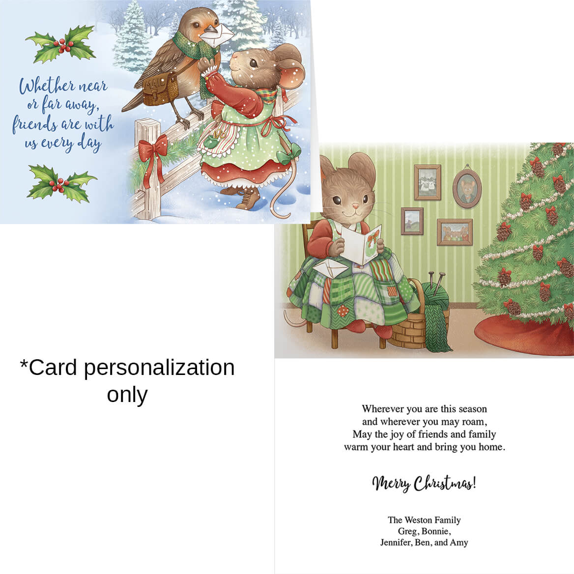 Charming Friends Christmas Card Set of 20-371903