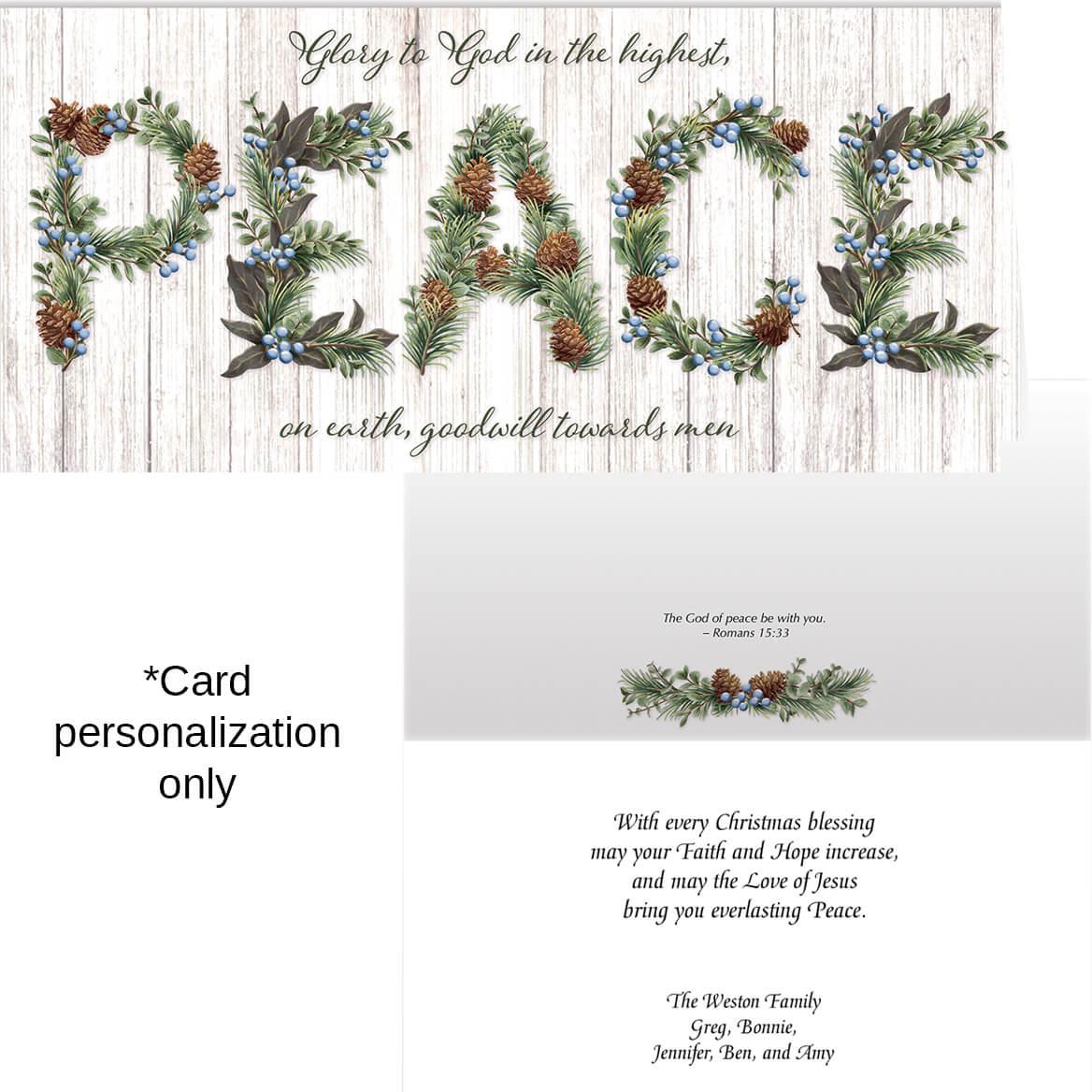 Heavenly Peace Christmas Card Set of 20-371904