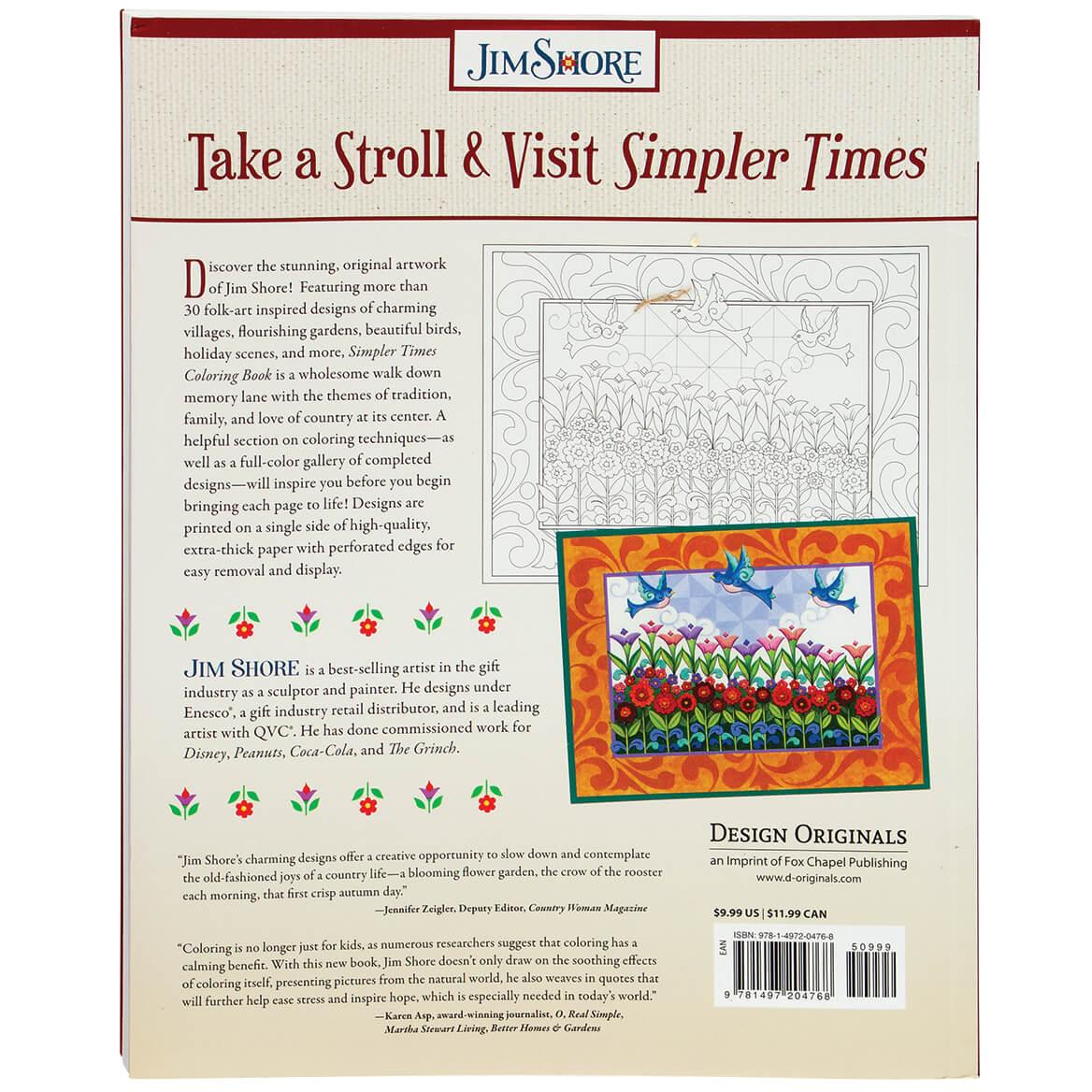 Jim Shore Simpler Times Coloring Book-371911
