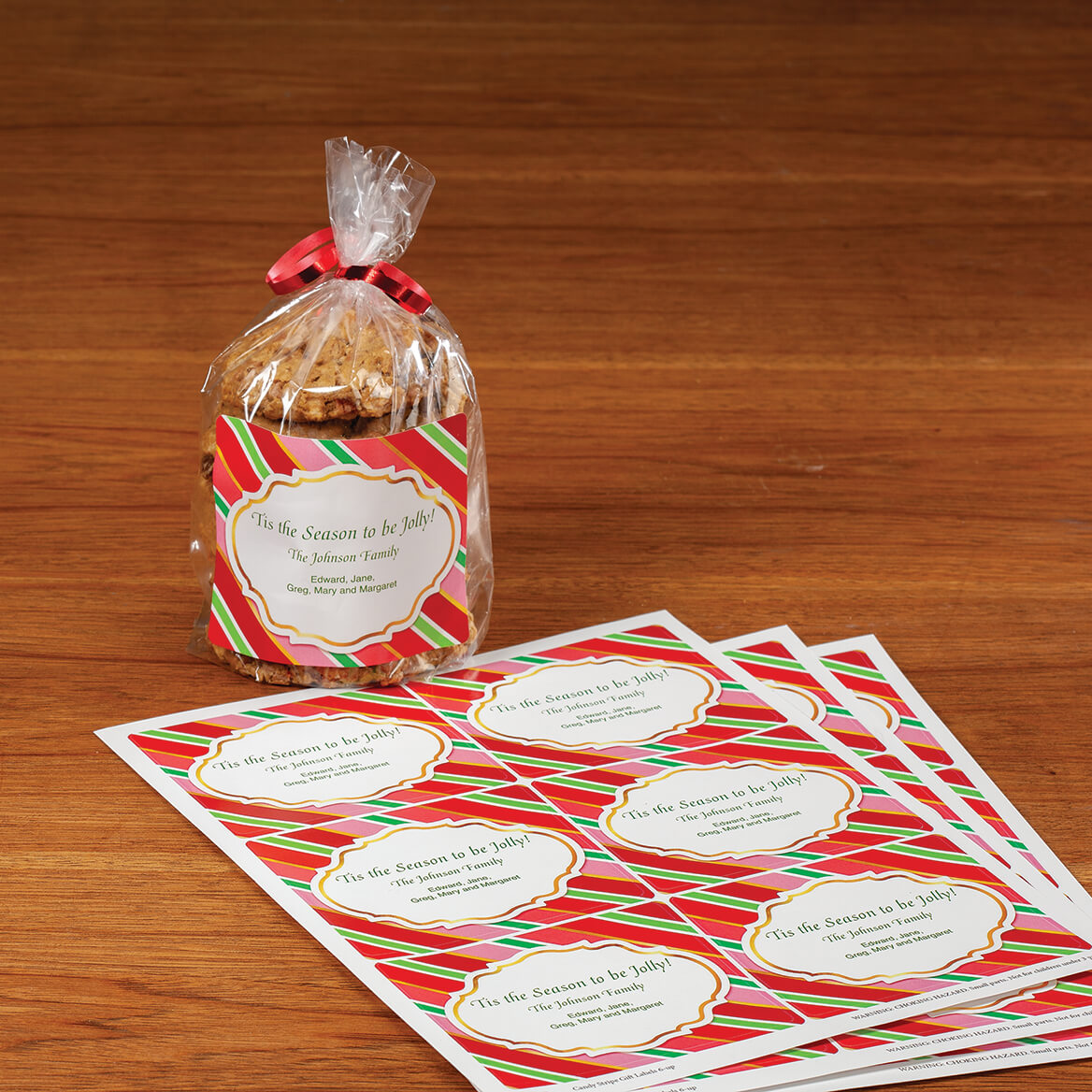 Personalized Candy Stripe Labels-371927