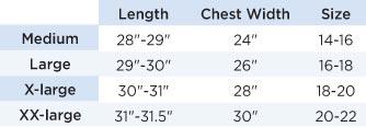 Baseball Jacket Size Chart