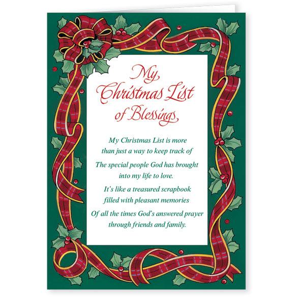 my christmas list religious christmas card set of 20