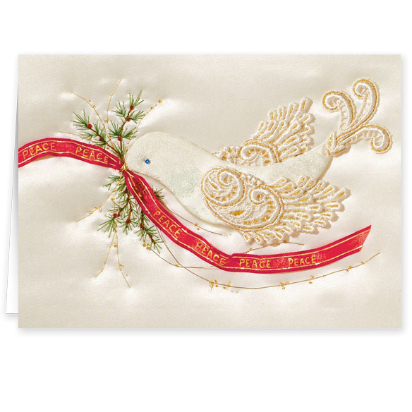 Satin Dove Christmas Cards - Set Of 20 - View 2