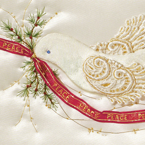 Satin Dove Christmas Cards - Set Of 20 - View 4