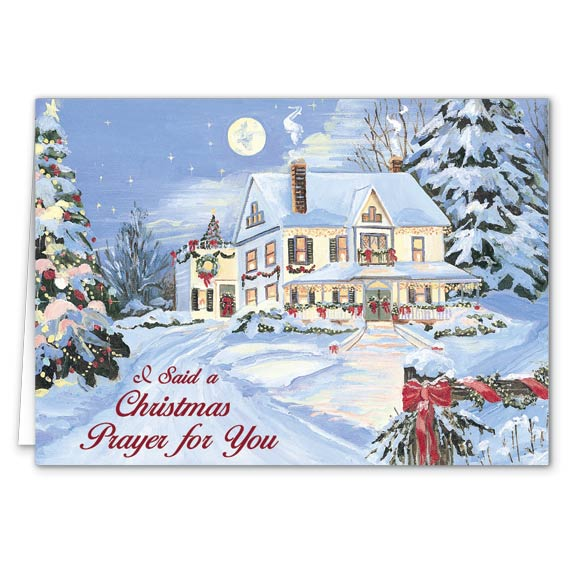 I Said A Christmas Prayer Religious Christmas Card Set of 20 - View 2