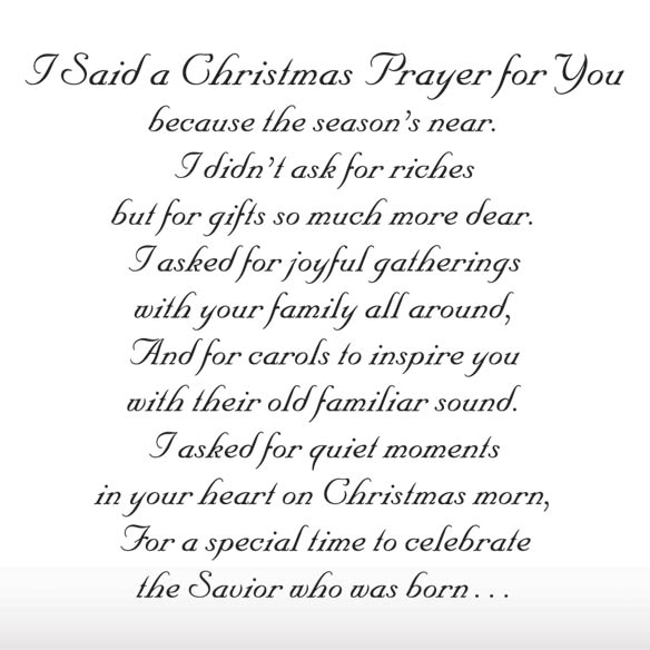 I Said A Christmas Prayer Religious Christmas Card Set of 20 - View 3
