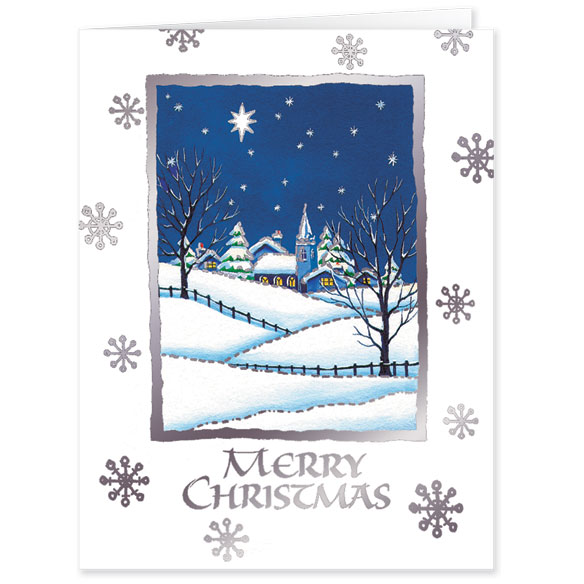 Bless Those We Love Chapel Personalized Christmas Cards - Set Of 20 - View 2