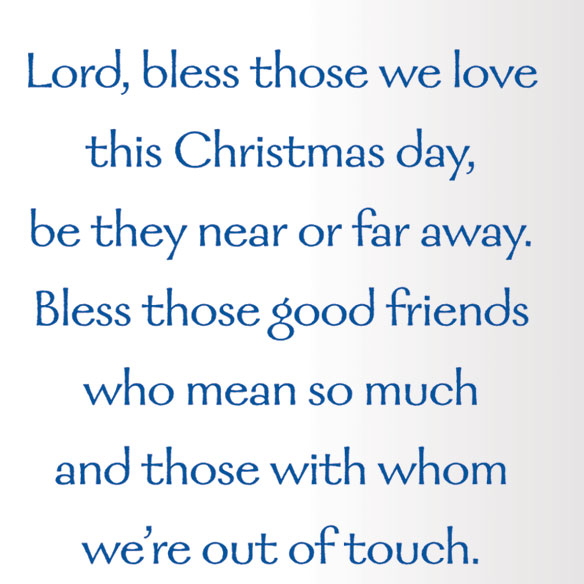 Bless Those We Love Chapel Personalized Christmas Cards - Set Of 20 - View 3