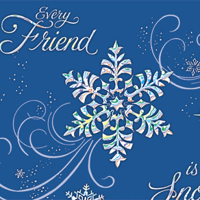 Personalized Snowflake Christmas Cards - Set of 20 - View 4
