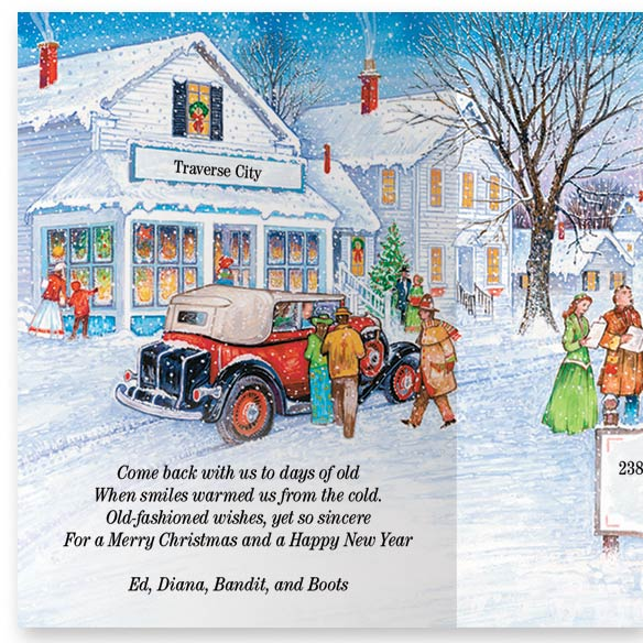 Antique Auto Christmas Card Set/20 - View 3