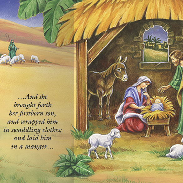 Gatefold Nativity Christmas Card Set/20 - View 3
