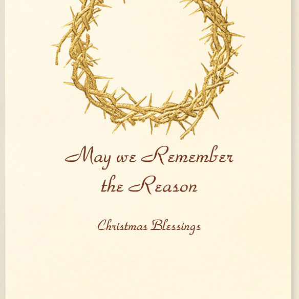 Wreath Of Gold Christmas Card Set/20