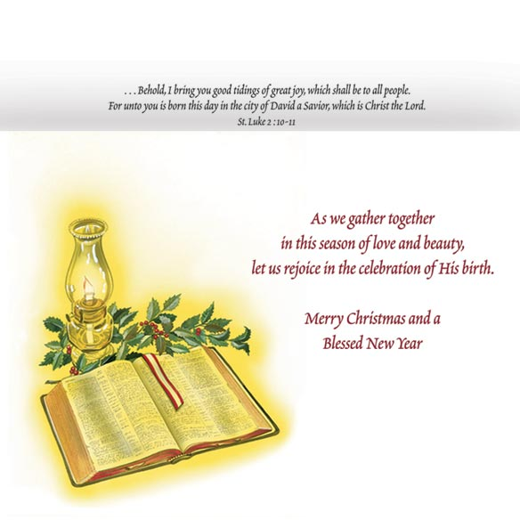 Country Church Christmas Card Set/20 - View 3