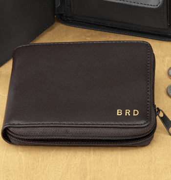 Leather Zipper Wallet - View 3