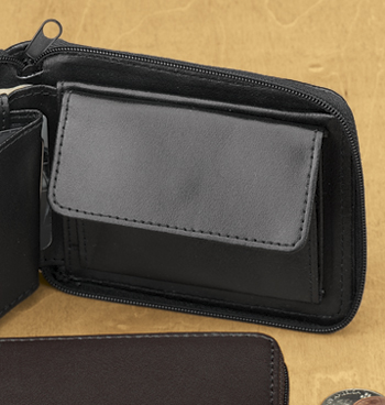 Leather Zipper Wallet - View 4