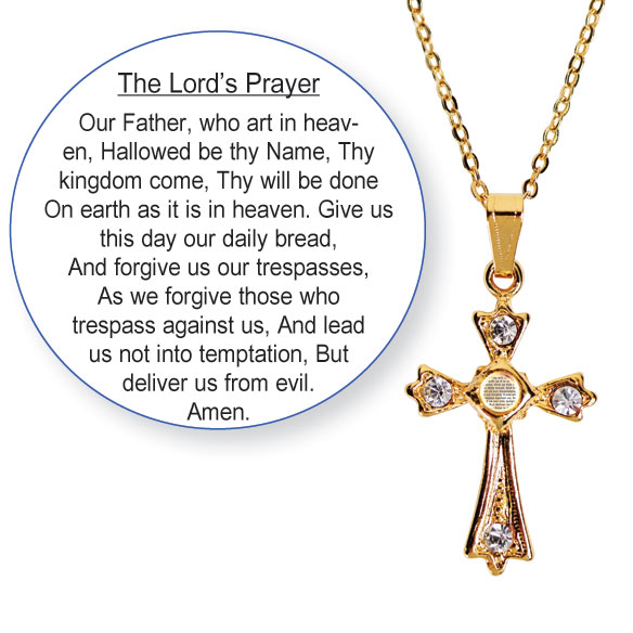 Lords Prayer Necklace - View 2