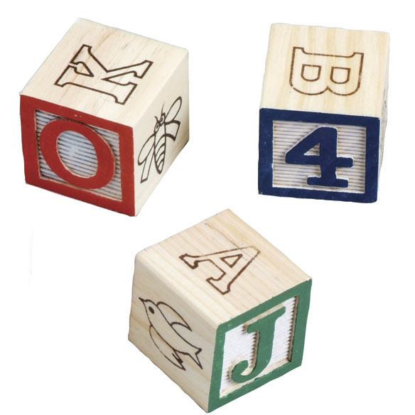Melissa And Doug® Wooden Alphabet Blocks With Personalized Cart - View 3