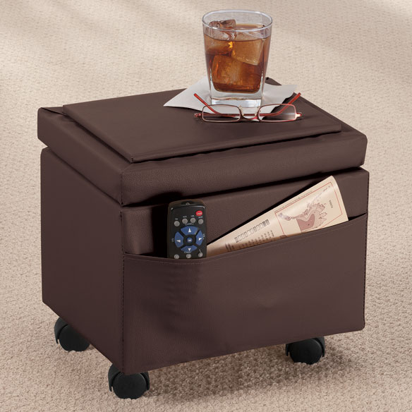 Flip Top Storage Ottoman - View 3