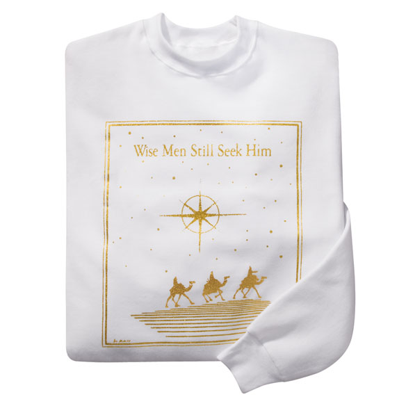Wise Men Still Seek Him Sweatshirt - View 2