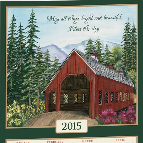 Personalized Covered Bridge Calendar Towel - View 2