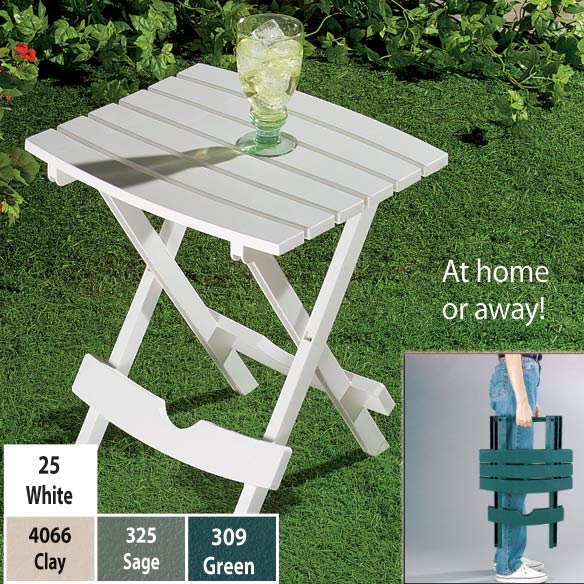 Outdoor Folding Side Table - View 2