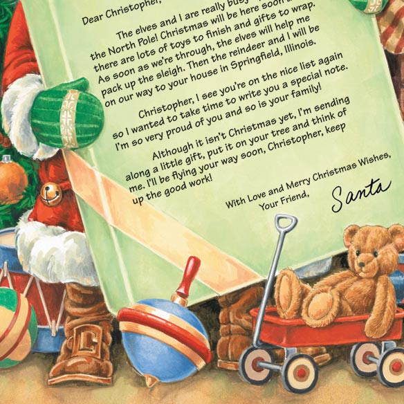 Letter From Santa and Ornament - View 3