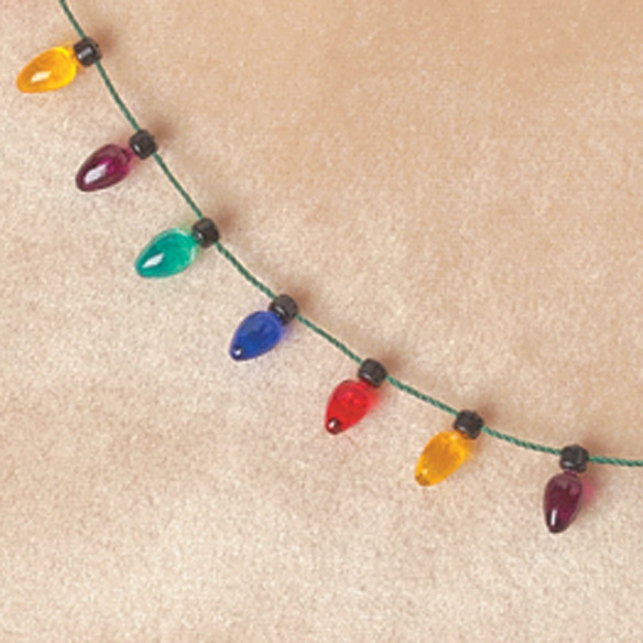 Christmas Light Necklace - View 1