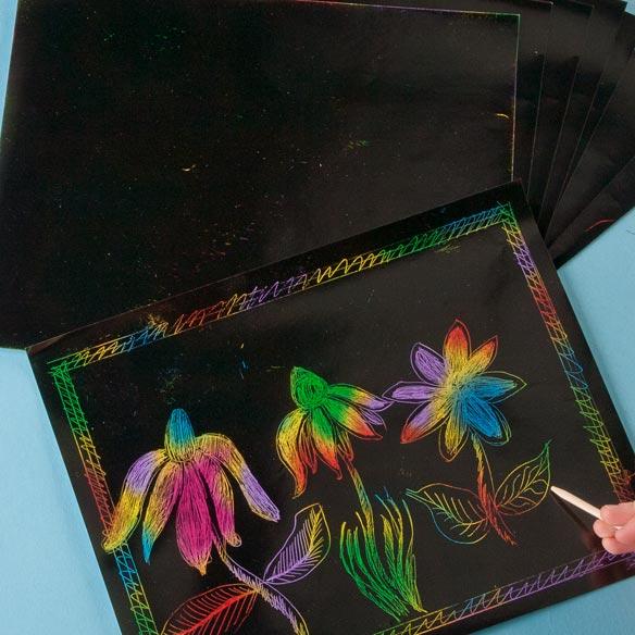 Scratch Art® Paper Multicolor Pack - View 2