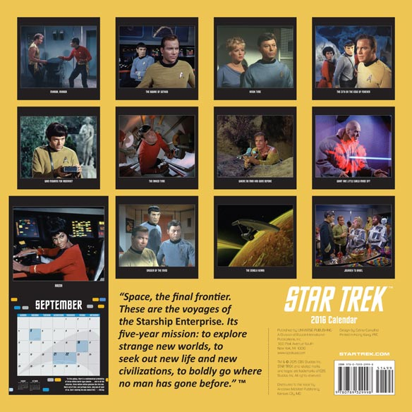 Star Trek (R) Wall Calendar - View 2
