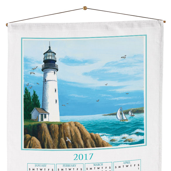 Personalized Lighthouse Calendar Towel - View 2