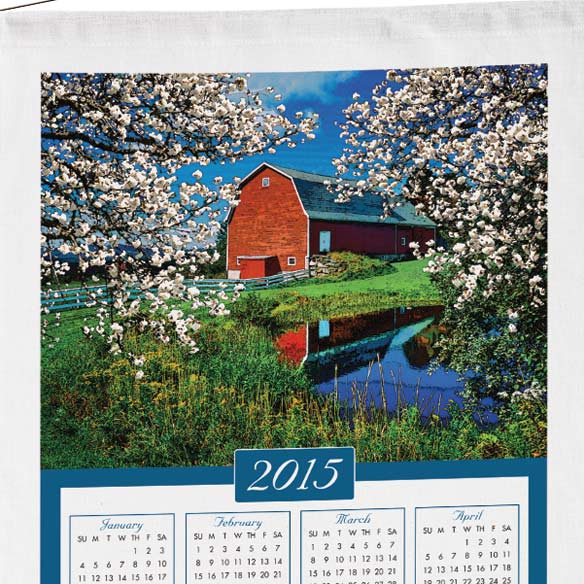 Personalized House Calendar Towel - View 2