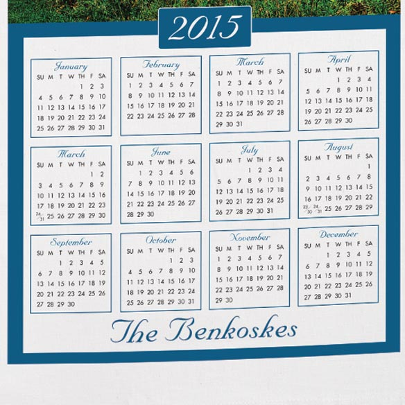 Personalized House Calendar Towel - View 3