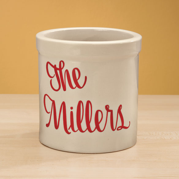 Personalized Stoneware Crock - 1 Qt. - View 2