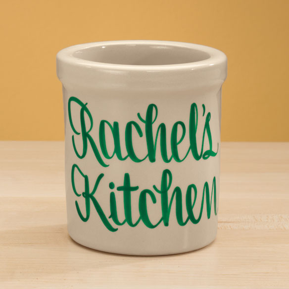 Personalized Stoneware Crock - 1 Qt. - View 4