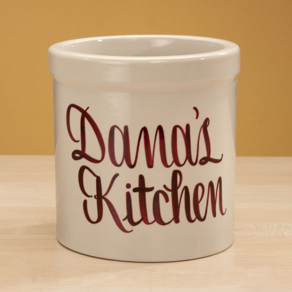 Personalized Stoneware Crock - 1 Qt. - View 5