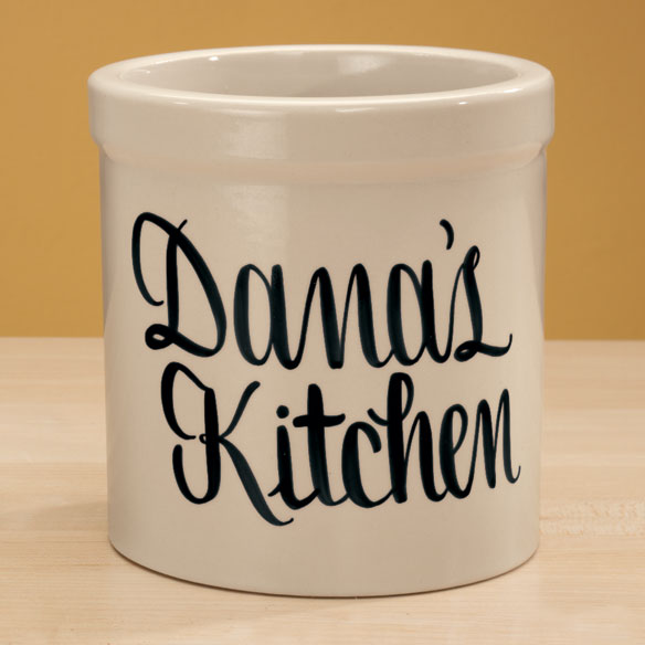 Personalized Stoneware Crock - View 5