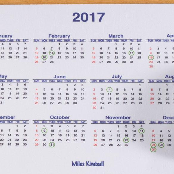 Calendar Mouse Pad - View 2