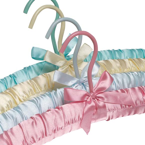 Satin Padded Hangers - Set Of 4 - View 2