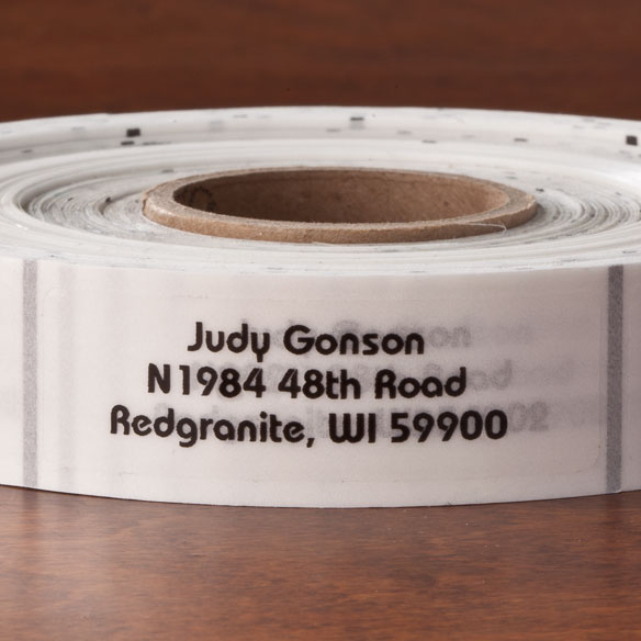 Clear Address Labels - Roll of 1000 - View 3