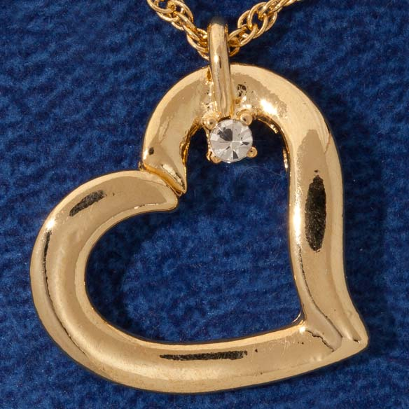 Family Gems™ Heart Necklace - View 2