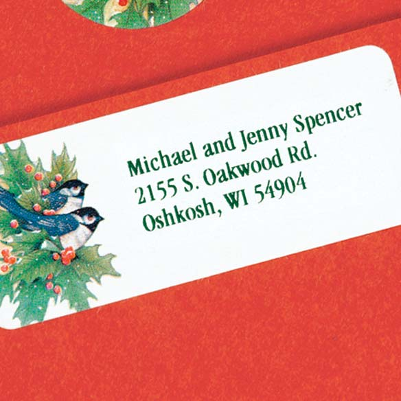 Winter Chickadee Address Labels And Seals - Sets of 250 - View 3
