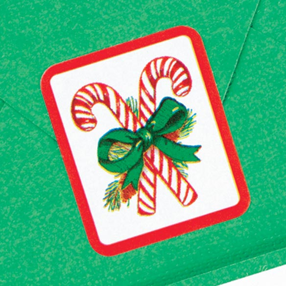 Candy Cane Seals - Set of 250 - View 2
