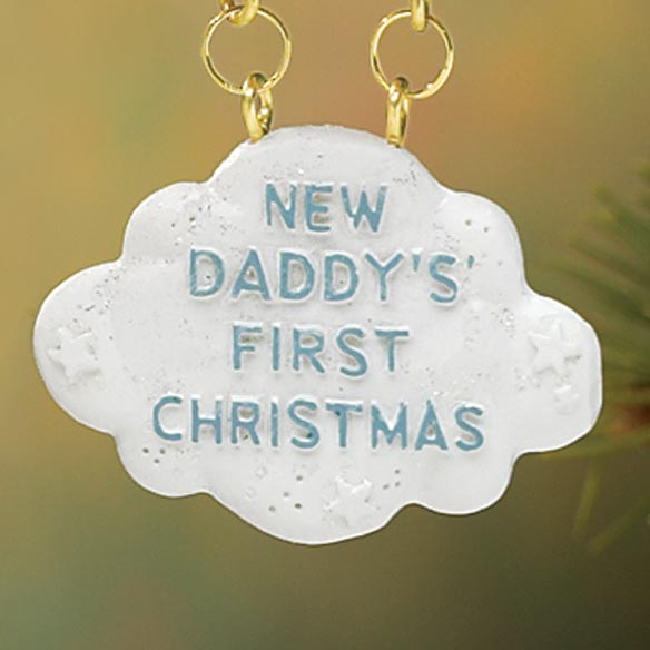 Daddys First Christmas Ornament - View 3
